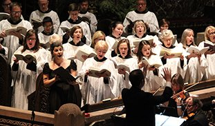 The Trinity Choir in concert.