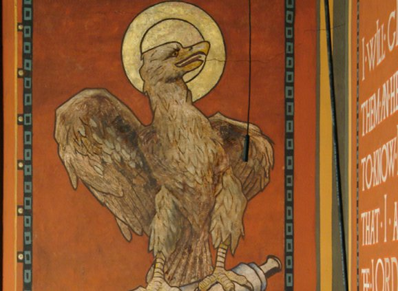 The eagle representing John the Evangelist, from a Trinity mural.