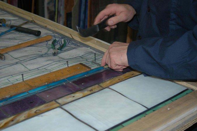Restoration of La Farge Window