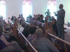 Faith leaders hold community meeting ahead of rally (Photo courtesy of nbc29, Charlottesville, VA)