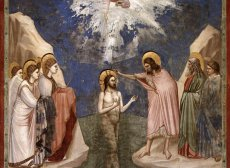 Jesus' Baptism by Giotto di Bondone (1267-1337)