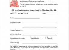 The first page of the application form.