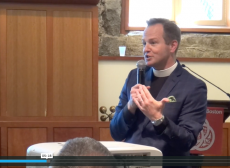 The Rev. Thomas Brown speaking in the Trinity Forum.