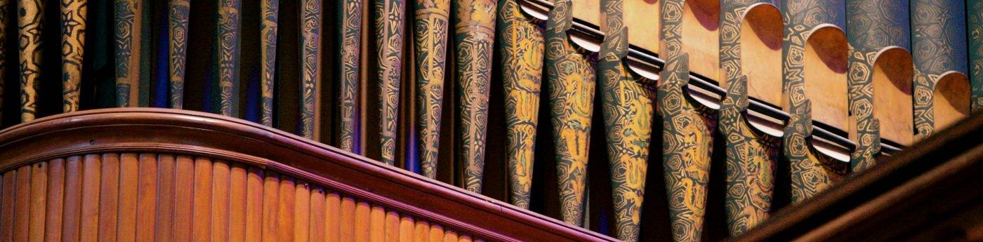 Detail of organ pipes in West Gallery